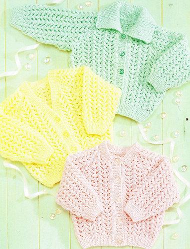 4518Sty baby vintage knitting pattern PDF