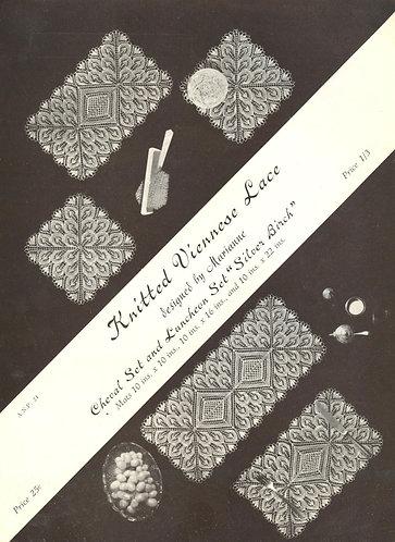 ANP24 viennese lace vintage knitting pattern PDF