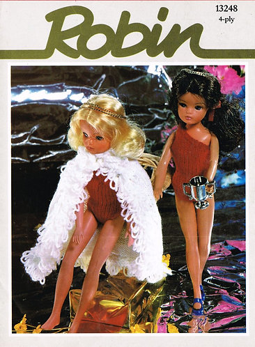 13248R fashion dolls clothes vintage knitting pattern PDF Download