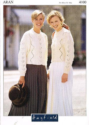 4100H ladies vintage knitting pattern PDF