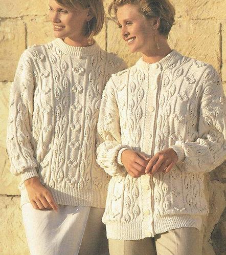 4372H ladies cardigan jumper vintage knititng pattern PDF Download