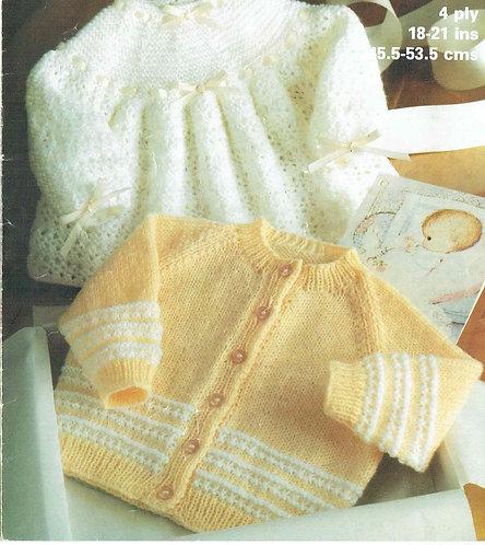1965M baby dress cardigan vintage knitting pattern  PDF Download