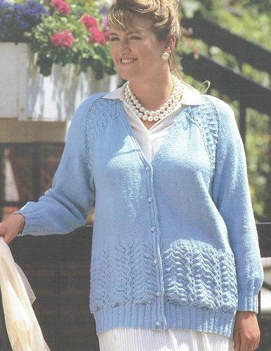 4510H ladies cardigan Vintage knitting pattern  PDF Download
