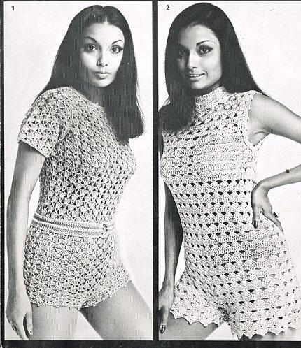 1007T ladies hotpants vintage crochet pattern  PDF Download