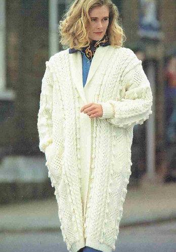 4235H ladies coat Vintage knititng pattern  PDF Download