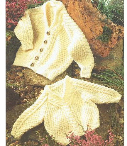 633H baby cardigan jumper vintage knitting pattern  PDF Download