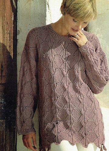 4566 ladies jumper Vintage knitting pattern  PDF Download