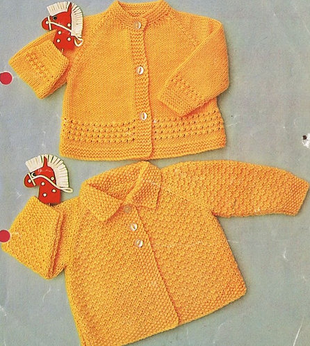 984H baby matinee coats vintage knitting pattern  PDF Download