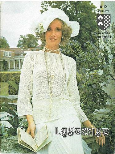 6110T ladies jumper vintage crochet pattern  PDF Download