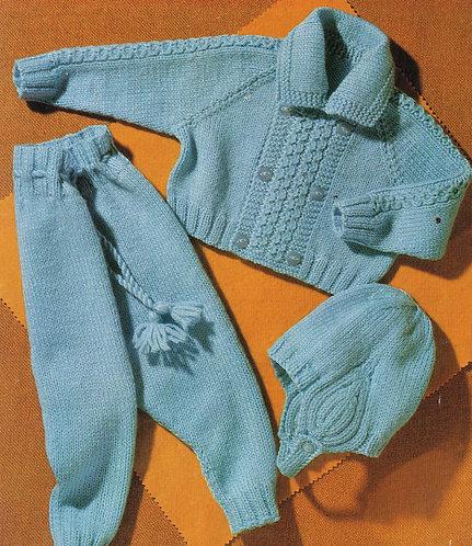 3022S baby vintage knitting pattern PDF