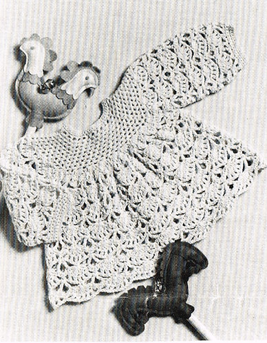 8018P baby vintage crochet pattern PDF