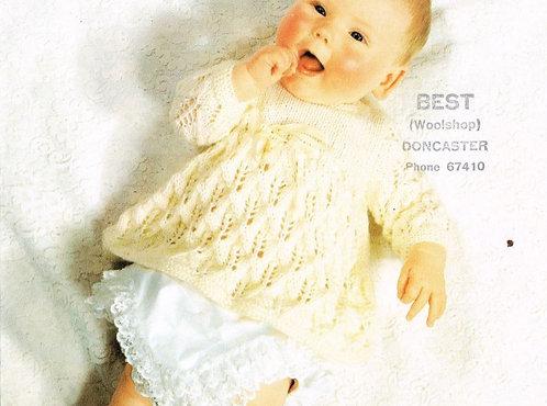 1917H baby dress vintage knitting pattern  PDF Download