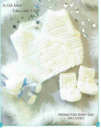 8762P baby waistcoat set vintage knitting pattern  PDF Download