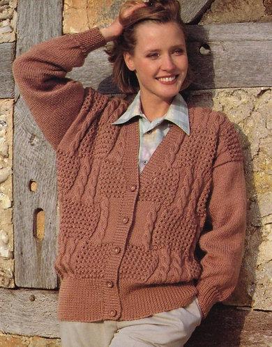 812H ladies cardigan Vintage knitting pattern  PDF Download
