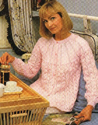 852H ladies bedjacket Vintage knitting pattern  PDF Download