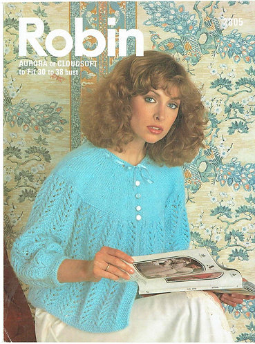 2805R ladies bedjacket vintage knitting pattern  PDF Download