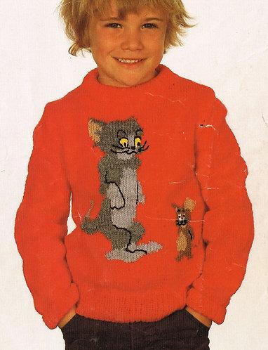 2541W children vintage knitting pattern PDF
