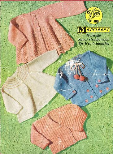 300M baby matinee coats vintage knitting pattern  PDF Download