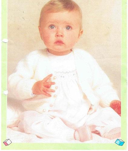 8794P baby cardigan vintage knitting pattern  PDF Download