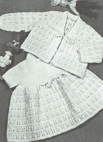 Baby talk vintage knitting pattern PDF