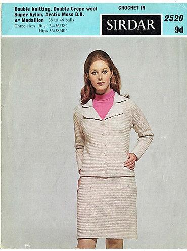 2520S ladies vintage crochet pattern PDF