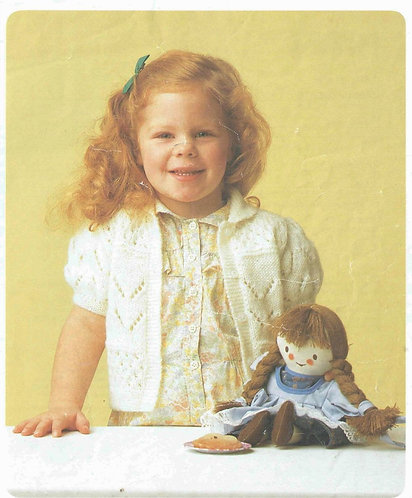 7516P girls waistcoat Vintage knitting pattern  PDF Download