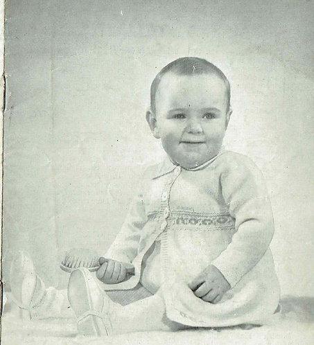 170P baby pram suit vintage knitting pattern  PDF Download