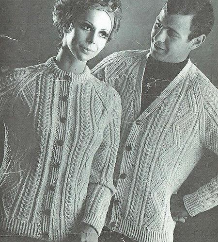 636Ar ladies vintage knitting pattern PDF
