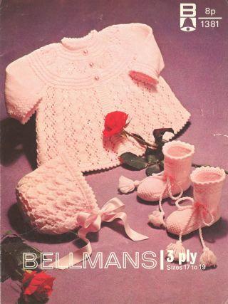 1381Bell baby vintage knitting pattern PDF
