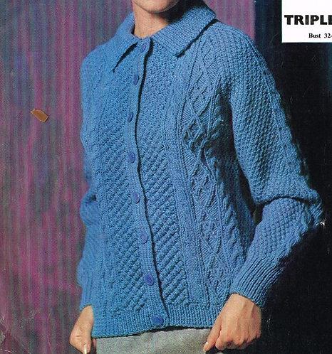 2423E Ladies vintage knitting pattern PDF