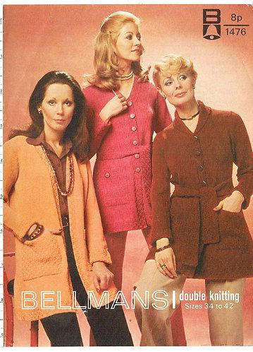 1476Bell ladies vintage knitting pattern PDF