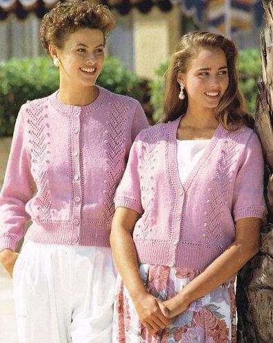 4156H ladies cardigan Vintage knititng pattern  PDF Download