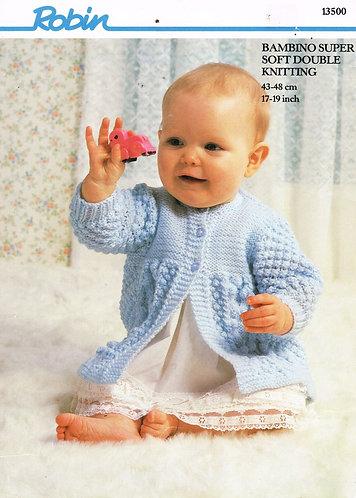 13500R baby matinee coat vintage knitting pattern  PDF Download