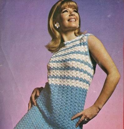602H ladies dress Vintage crochet pattern  PDF Download