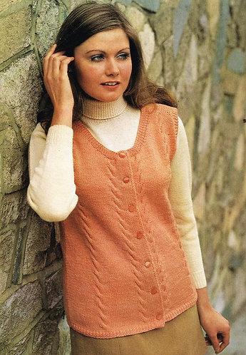 583BK ladies vintage knitting pattern PDF