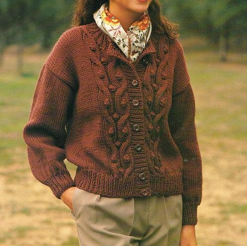 9053S Ladies vintage knitting pattern PDF