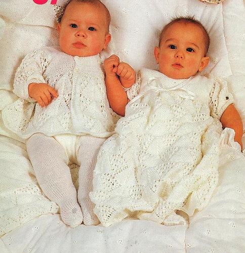 415Ar baby vintage knitting pattern PDF