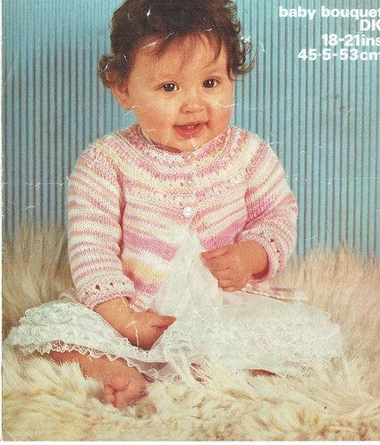 1635 baby matinee coat Vintage knitting pattern PDF Download