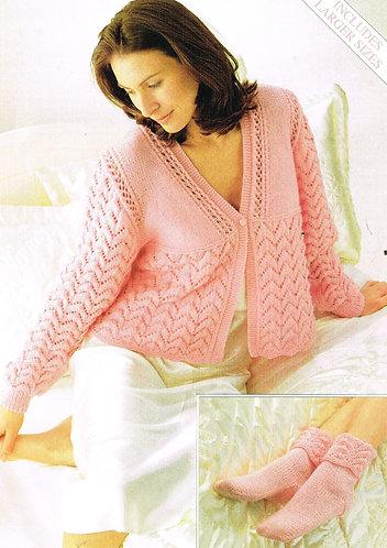 5595S Ladies vintage knitting pattern PDF
