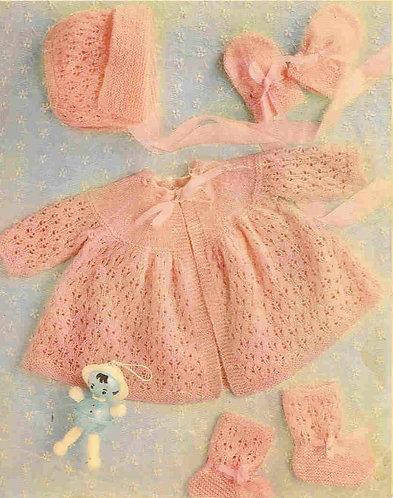 113Ar baby vintage knitting pattern PDF