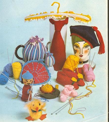1520M novelties vintage knitting pattern PDF Download