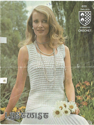 6111T ladies summer top vintage crochet pattern  PDF Download