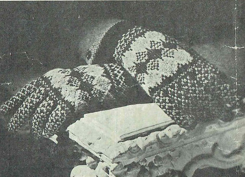 1945B Vladies fairisle gloves Vintage knitting pattern PDF Download
