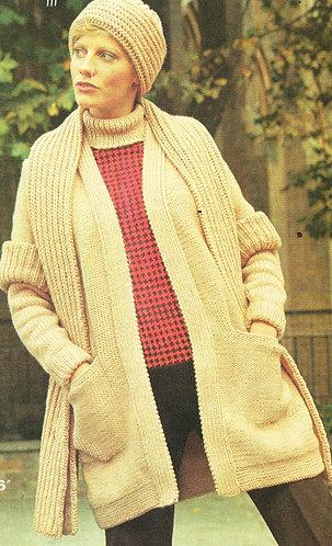 1416W ladies vintage knitting pattern PDF