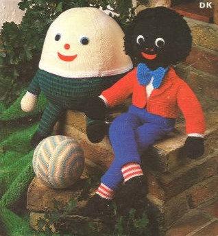 1802M golly toy vintage knitting pattern  PDF Download