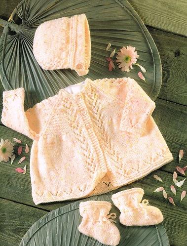4363H baby matinee coat vintage knitting pattern  PDF Download