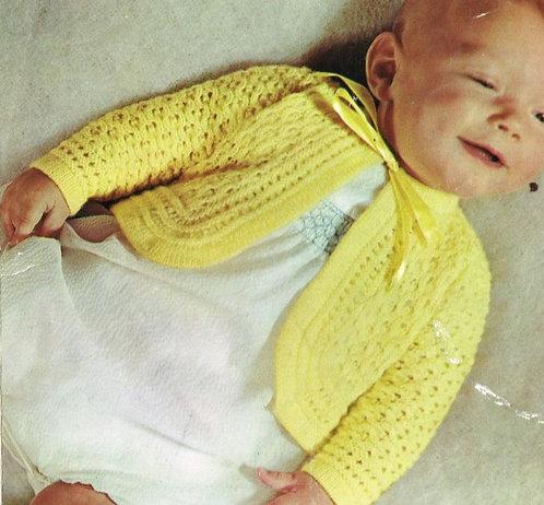 223P baby matinee coat vintage knitting pattern  PDF Download