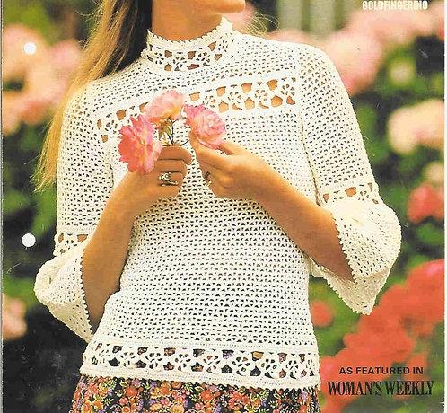 6326T ladies summer top vintage crochet pattern  PDF Download