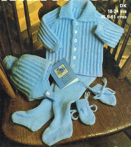 1967M baby vintage knitting pattern PDF