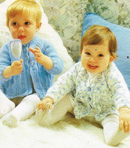 1473H baby matinee coat vintage knitting pattern  PDF Download